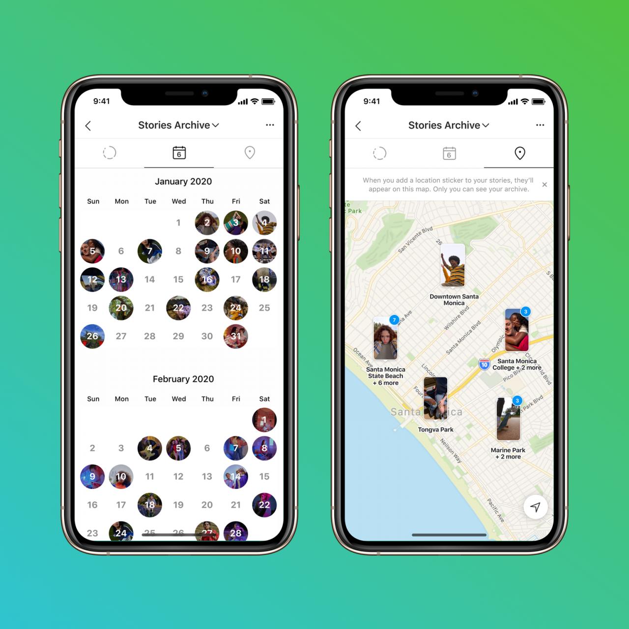 Instagram Stories Map